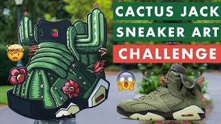 Travis Scott Cactus Jack 6s Sneaker Art Process Video
