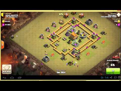 Giant Healer attack strategy TH6 Town Hall 6 clan war - Clash of Clans