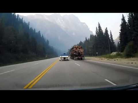 Calgary, AB to Vancouver, BC drive timelapse