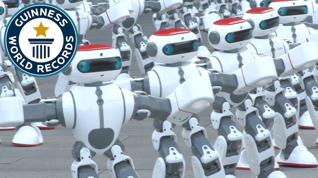 Massive Robot Dance Guinness World Records Youtube