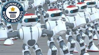 見よ!中国ロボット集団、一糸乱れぬダンスでギネス記録