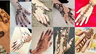 top 100 latest  Back hand  mehndi design