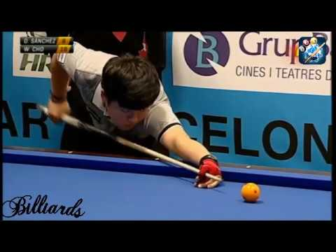 Billiards 3 Cushion 2018 Barcelona Billar 3 Bandes Daniel Sanchez vs Cho Myung Woo