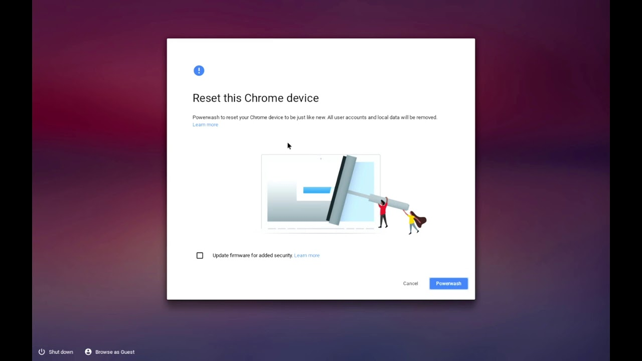 How to de-register and factory reset (Powerwash) a Chromebook or Chrome OS  device