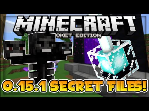 MCPE 0.15.1 // 0.15.1 SECRET FILES! - New Mob & New Features?!  - Minecraft PE (Pocket Edition)
