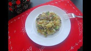 🥗Оливье с говядиной и жареными шампиньонами 😍!  Отличный салат к праздничному столу 🥂🎄!