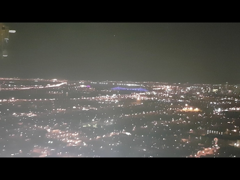 Pont Jacques Cartier Light Show view from the olympique stadium tower crane