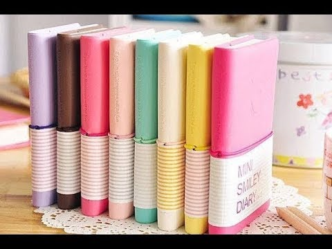 How to make mini DIARY! MINI NOTEBOOKS ONE SHEET OF PAPER - DIY BACK TO SCHOOL