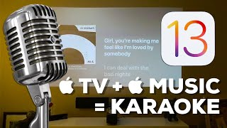 Sing Karaoke on Apple TV + Apple Music on TvOS 13