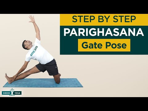 Parighasana (Gate Pose) Benefits, How to Do, Contraindications by Yogi Ritesh Siddhi Yoga