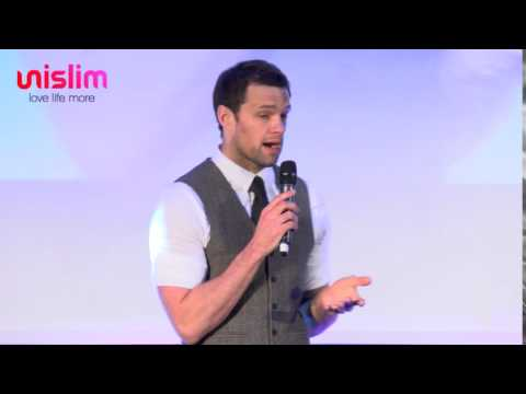 Bressie Speaking At The Unislim Health & Wellness Show