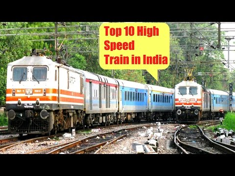 The Top 10 FASTEST TRAINS of Indian Railway  ****