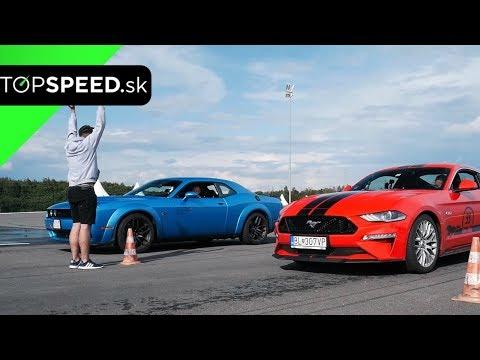 Ford Mustang GT 5.0 V8 Proti Dodge Challenger R/T 6.4 V8 Porovnanie - TOPSPEED.sk