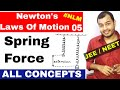 11 Chap 5 || Laws Of Motion 05 || Spring Force || Spring Numericals|| JEE mains NEET All concepts