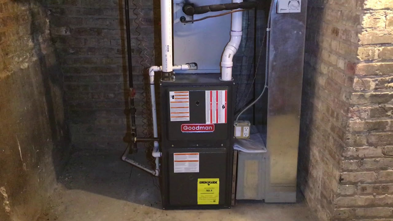 Goodman Furnace Installation In Chicago Youtube