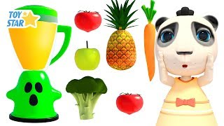 New 3D Cartoon For Kids ¦ Dolly And Friends ¦ Kids Make Slime With Fruit Blender Toy #135