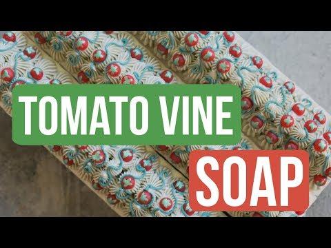 Tomato Vine Soap 🍅 ( + Using Natural Colorants )   Royalty Soaps