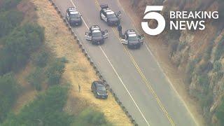 Pursuit of Stolen Vehicle Ends in San Gabriel Mountains
