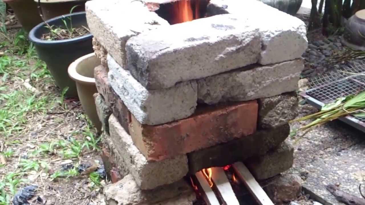 Dapur bata simple brick stove rocket stove youtube for How to make a brick stove