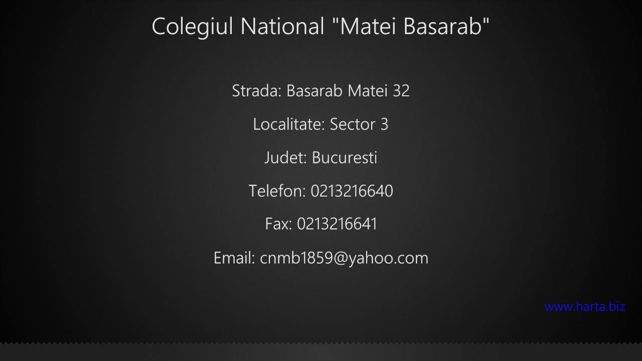 Colegiul National Matei Basarab Sector 3 Youtube