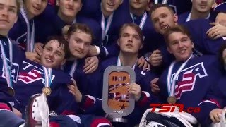 U18 Worlds: Game Highlights - USA vs. Canada (4/24/16)