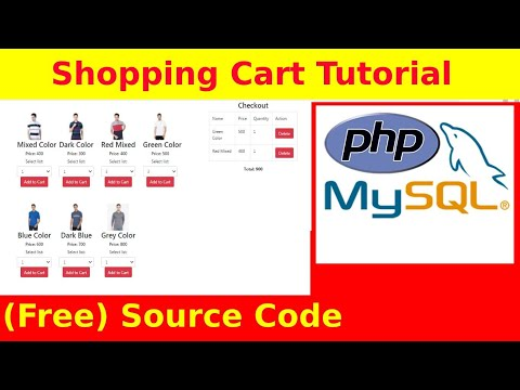 PHP/MYSQL Shopping Cart Tutorial with Source Code