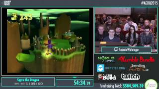 Awesome Games Done Quick 2015 - Part 146 - Spyro the Dragon by ChrisLBC