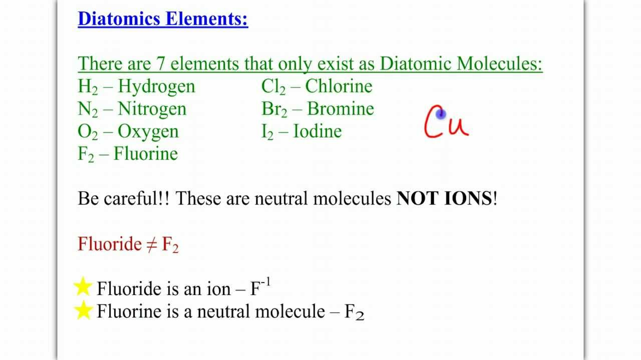 Chem ch 7a section 74 diatomic elements youtube gamestrikefo Choice Image