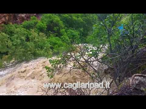 Impressionante piena del rio Araxisi ad Asuni