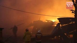 Fire destroys factory and workshop