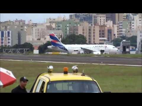PA30 TWIN COMANCHE CESSNA 150 BOENG 737 700 AIRBUS A319  EM OPERAÇÃO NO AEROPORTO DE LONDRINA