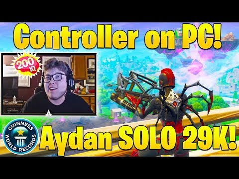 Everyone SHOCKED as Ghost Aydan sets SOLO World Record w/ Controller! (29 BOMB)