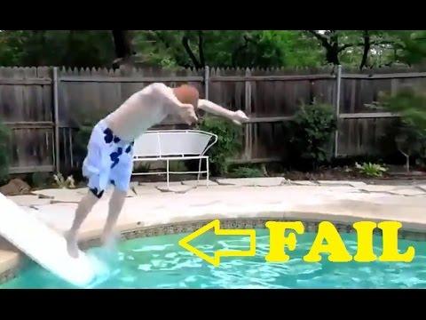 Trampoline Jump Fails Compilation 2015 New Doovi
