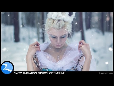 How to Add Snow Effect Animation to Picture In Photoshop CC