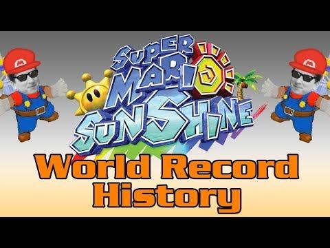 The World Record History of Super Mario Sunshine any%