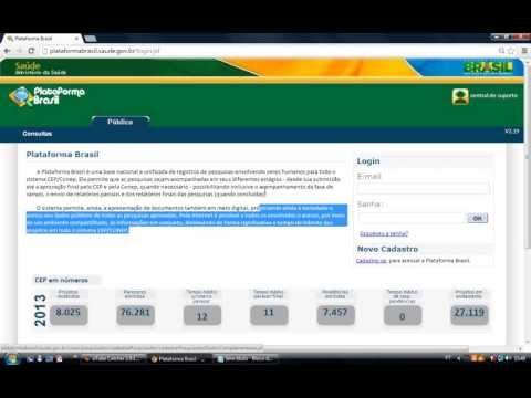 Plataforma Brasil - Tutorial de cadastro do Pesquisador e/ou Assistente