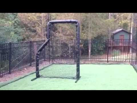 Baseball Batting Cage 12x14x30 Ft Frame Netting Hitting Mat And