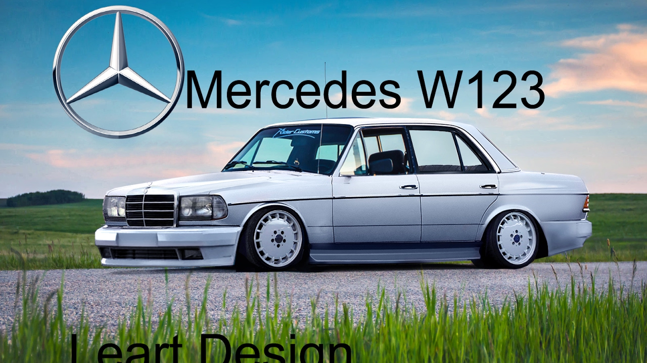 virtual tuning mercedes w123 photoshop youtube. Black Bedroom Furniture Sets. Home Design Ideas
