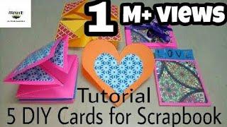 5 DIY Cards Tutorial For Scrapbook