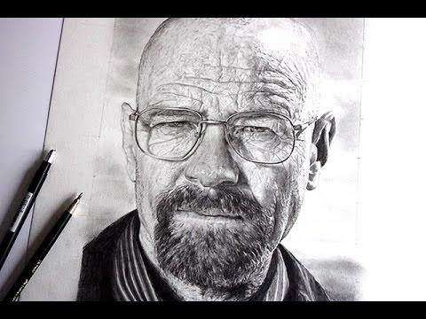 Comment Dessiner Un Visage Réaliste Portrait De Walter White Youtube