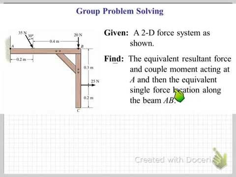 Resultant and Equivalent Force-Couple systems