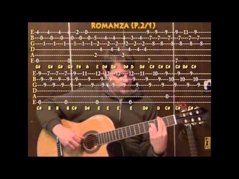 romanza classical guitar cover lesson tab spanish romance youtube