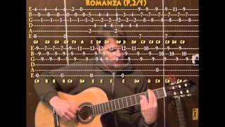 Romanza (Classical Guitar) Cover Lesson with TAB of Spanish Romance
