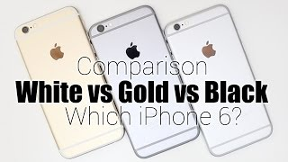 Apple iPhone 6: White (Silver) vs Gold vs Black (Space Gray)