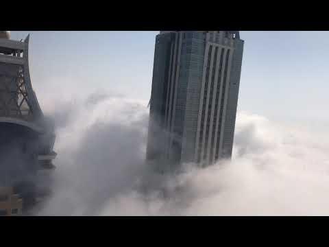 Dubai magic foggy mornings are back. Princess Tower Dubai Marina view