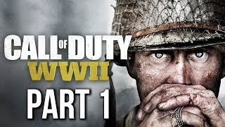Call of Duty WW2 Gameplay Walkthrough Part 1 - D-DAY (no commentary) CAMPAIGN