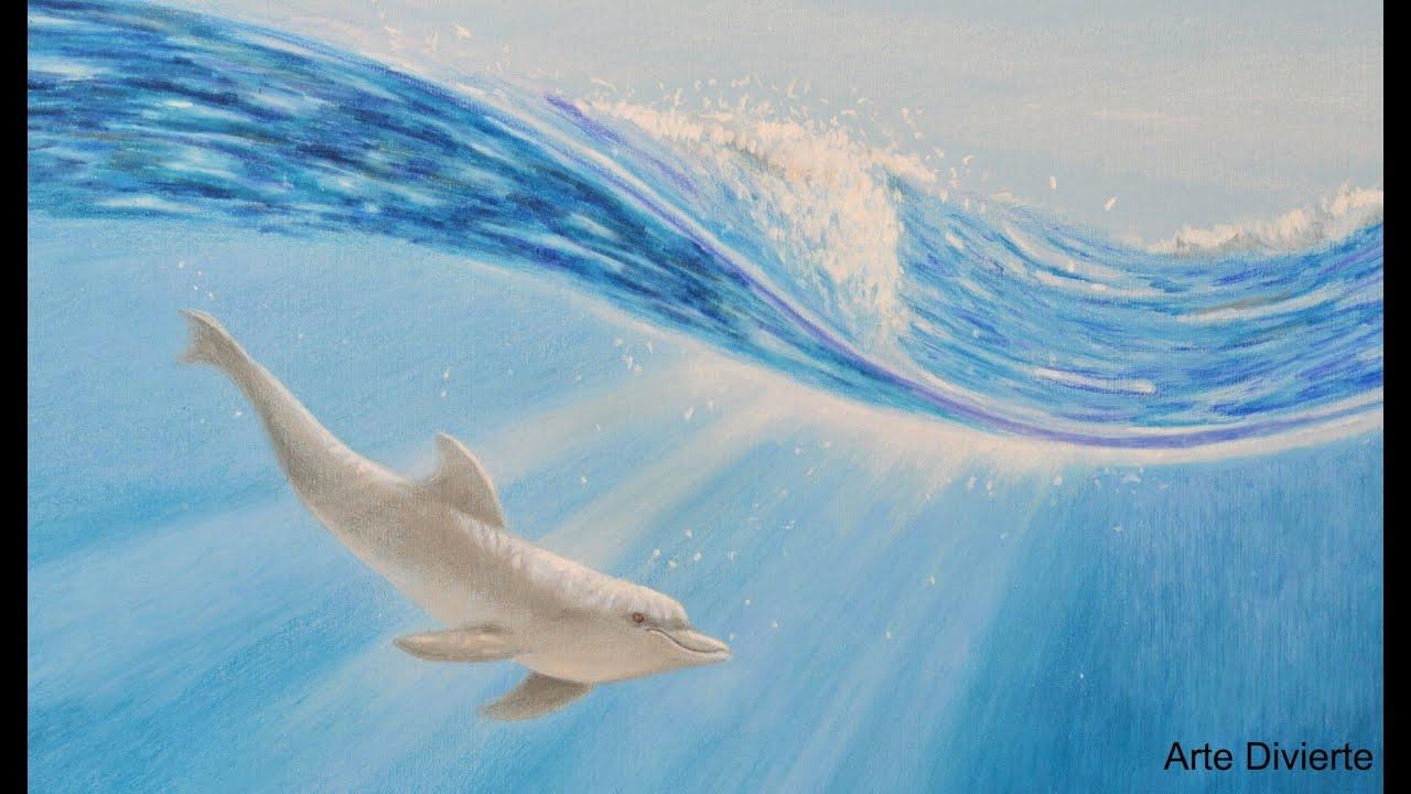Cmo dibujar un delfn bajo el agua con lpices de colores Arte