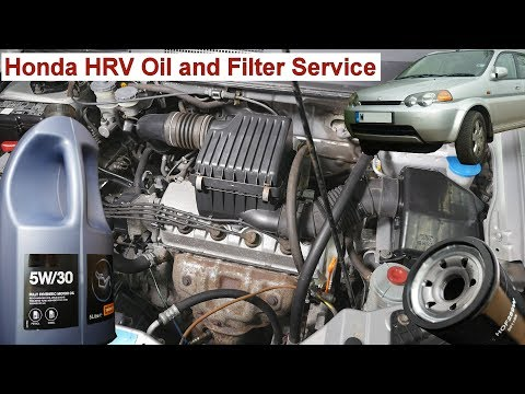 Year 2000 - Honda HRV Oil and Filter Change on 1.6 VTEC Petrol Engine D16W5 D16W1 D16W2