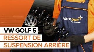 Remplacement Ressort d'amortisseur VW GOLF : manuel d'atelier