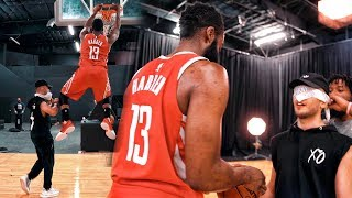 PLAYING JAMES HARDEN 1v1 *BLINDFOLDED* HARDEN DUNKS ON ME & I TEACH HIM HOW TO BE A YOUTUBER